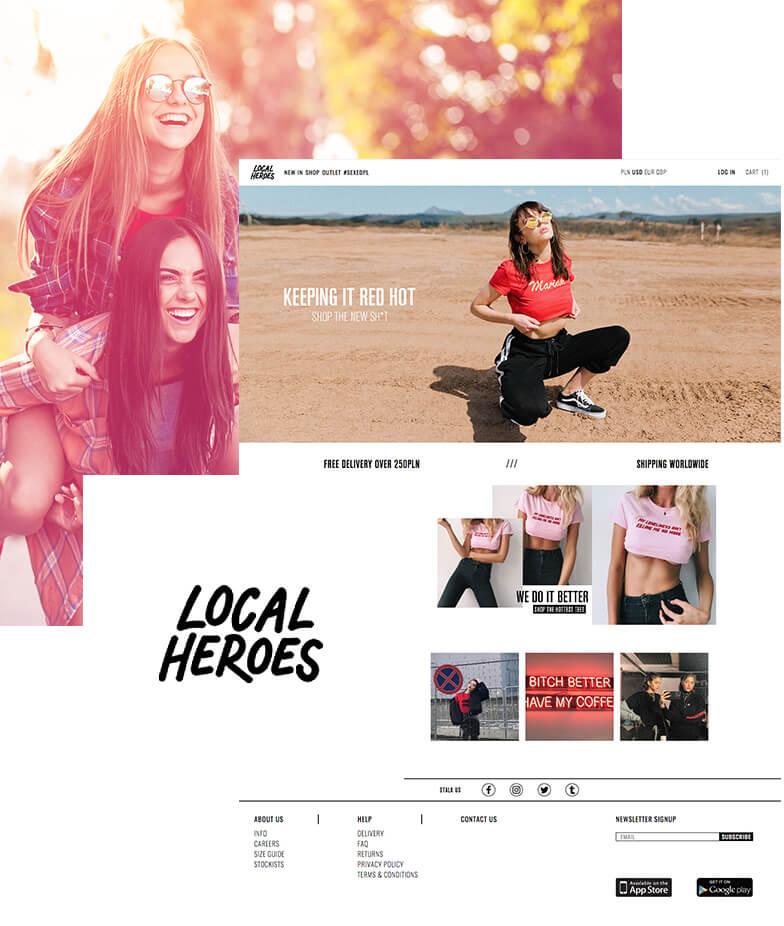 Wdrożenie Magento w sklepie internetowym Local Heroes