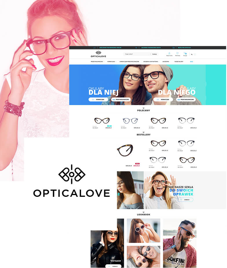 Wdrożenie Magento w sklepie internetowym Opticalove